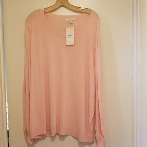 Sejour Sweaters - Light weight pink long sleeved Sejour 3X sweater